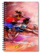 Olympics Heptathlon Hurdles 01 Spiral Notebook