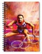 Olympics Heptathlon Hurdles 02 Spiral Notebook