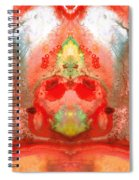 Om - Red Meditation - Abstract Art By Sharon Cummings Spiral Notebook