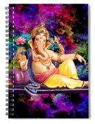 Om Shanti Ganesh Spiral Notebook