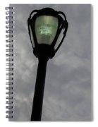 On A Light Post Spiral Notebook