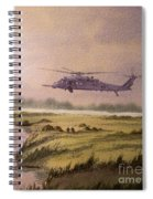 On A Mission - Hh60g Helicopter Spiral Notebook