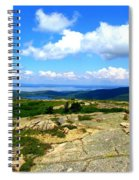 On A Mountain In Maine Spiral Notebook