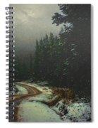 On A Snowy Evening Spiral Notebook