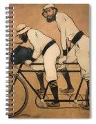 On A Tandem Spiral Notebook