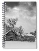 On A Winter Day Monochrome Spiral Notebook