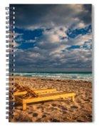 On Golden Sands Spiral Notebook