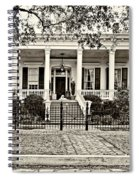 On Guard In New Orleans Sepia Spiral Notebook