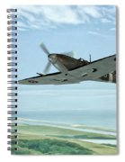 Spitfire On Patrol Spiral Notebook