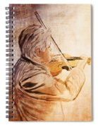 On Stage The Violinist Spiral Notebook