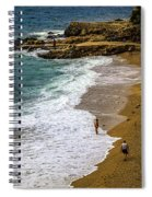 On The Beach - Dubrovnic Spiral Notebook