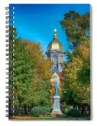 On The Campus Of The University Of Notre Dame Spiral Notebook