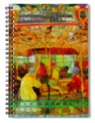 On The Carousel Spiral Notebook
