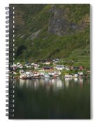 On The Edge Of The Fjord Spiral Notebook