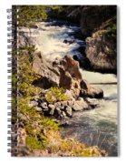 On The Firehole Spiral Notebook