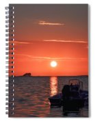 On The Gulf At Sunset Spiral Notebook