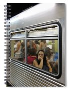 On The Metro - Sao Paulo Spiral Notebook