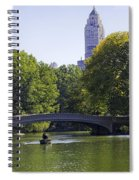 On The Pond - Central Park Spiral Notebook