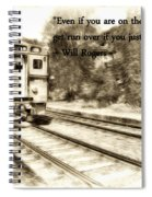 On The Right Track Spiral Notebook