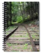 Victorian Locomotive Tracks Spiral Notebook