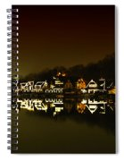 On The River At Night -  Boathouse Row Spiral Notebook