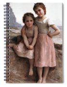 On The Rocky Beach Spiral Notebook