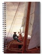 On The Sailing Boat Spiral Notebook