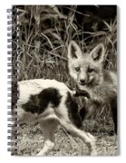 On The Scent Sepia Spiral Notebook