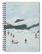 On The Slopes Spiral Notebook