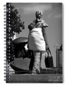 On The Steps Of The U N  -  Mother And Child Spiral Notebook