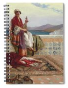 On The Terrace Tangiers Spiral Notebook