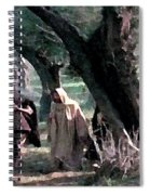On The Way To Gethsemane Spiral Notebook