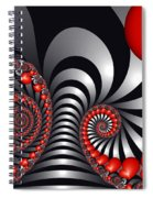 On The Way To Happiness Spiral Notebook