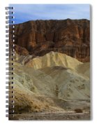 On The Way To Sunday Services Red Cathedral In Death Valley National Park Spiral Notebook