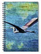 On The Wings Of Blue Spiral Notebook
