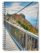 On Top Of Grandfather Mountain Mile High Bridge In Nc Spiral Notebook
