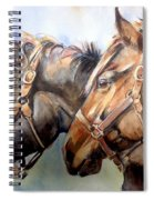 Horse In Watercolor On Watch Spiral Notebook