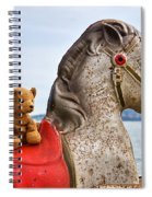 On White Horses Snow White Horses Let Me Ride Away Spiral Notebook