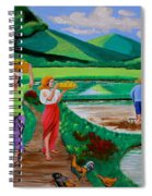 One Beautiful Morning In The Farm Spiral Notebook
