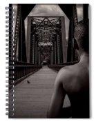 One Boy One Pigeon One Bridge Spiral Notebook