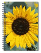 One Bright Sunflower - Digital Art Spiral Notebook