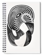 One Clean Print - Greyscale  Spiral Notebook