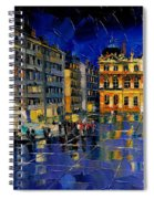 One Evening In Terreaux Square Lyon Spiral Notebook