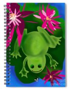 One Frogs Dinner Spiral Notebook
