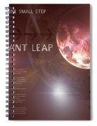 One Giant Leap Spiral Notebook