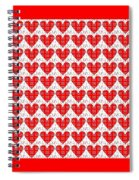 One Hundred Hearts Spiral Notebook