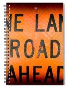 One Lane Road Spiral Notebook