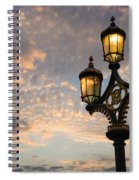 One Light Out - Westminster Bridge Streetlights - River Thames In London Uk Spiral Notebook