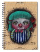 One Love Clown Spiral Notebook
