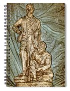 One More Shot - Rogers Group Statue Spiral Notebook